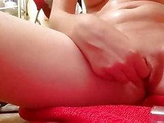 girl masturbating redhead sex toy small tits small