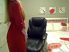 Classy Webcam Blonde Girl strips and plays