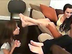 brunette foot fetish lesbian