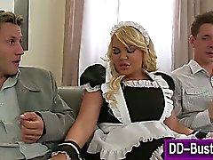 amateur blonde blowjob group sex