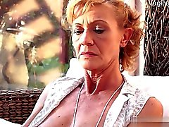 couple mature granny shaved outdoor
