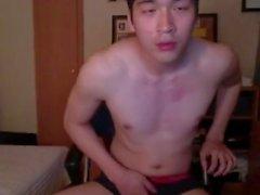 masturbate asian camguy solo off cumshot asian