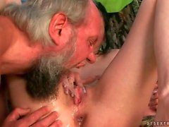 threesome old and young blowjob extreme hardcore