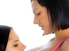 babe brunette lesbian masturbation nipples