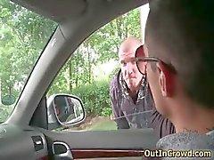 Aroused homo hunk sucking rigid gay tube
