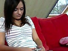 babe blowjob brunette