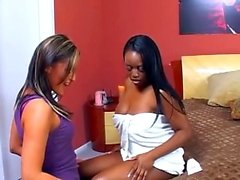 black and ebony interracial lesbian lick