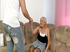 madre vecchio calze procace
