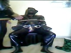 Rubber session with Rochdale Tony part 2 with Tony in the chair
