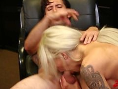 Blonde Milf Banged At Work