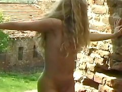 masturbation outdoor striptease