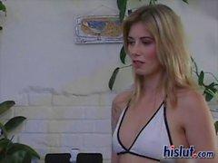blonde anal cumshot facial teen