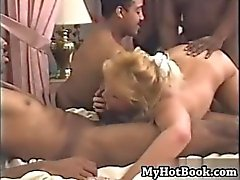 Kelly 38D hardcore interracial gangbang