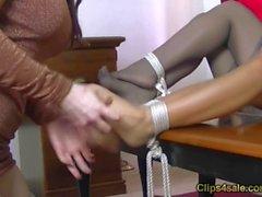 elan-kane tickling feet bondage nylon