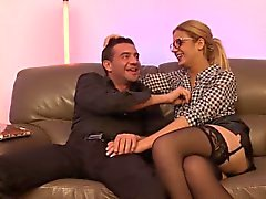 blonde blowjob double penetration french