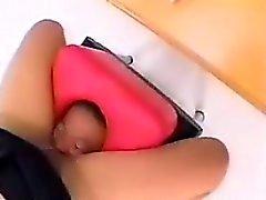 азиатский женское лизать нейлон
