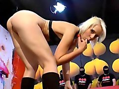 blonde bukkake european fetish gangbang