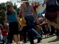 Amazing ass upskirt hq video