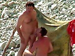 gay amateur beach