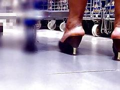 dilettante matura feticismo del piede