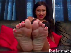 bdsm femdom foot fetish pov stockings