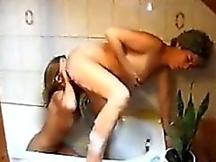 lesbian old young shower small tits