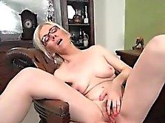 blonde hairy masturbation