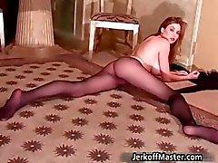 amateur brunette fetisch nylon