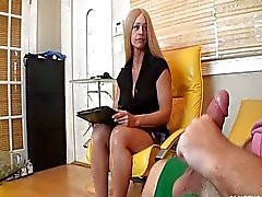 blonde caucasian couple handjob
