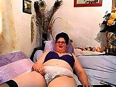 bbw big boobs brunette masturbation mature