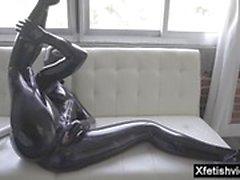 fetish latex masturbation milf