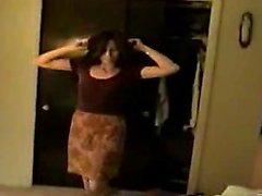 amateur brunette solo striptease webcam