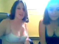 Two college girls teasing on omegle