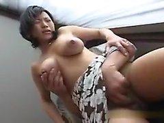 amateur asian babe big boobs blowjob