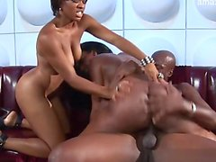 ebony threesome group