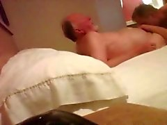 Hidden cam with 86 year old grandpa bear in motel room