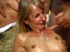 facial sperm swallowing