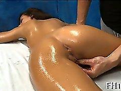 brunette hardcore massage