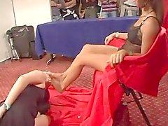 femdom feticismo del piede lesbiche