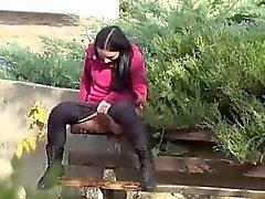 amateur rubia fetiche al aire libre