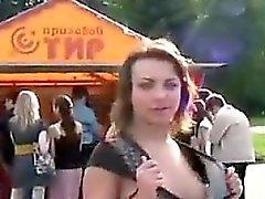 amateur brunette outdoor
