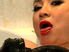 asiatisch fetisch nylon dusche