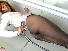 masturbation pantyhose redheads