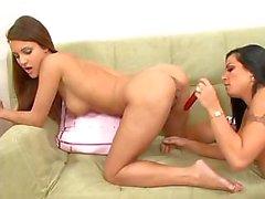 lesbian pornstar toys brunette