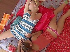 blonde brunette lesbian russian