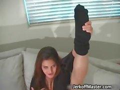 babe brunette fetish nylon panties