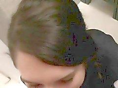 amateur blowjob brunette