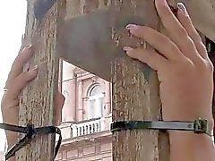 bdsm bound public slave disgrace exhibitionism female humiliation