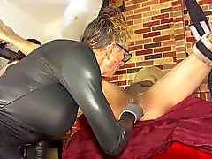 anal bondage fingering latex