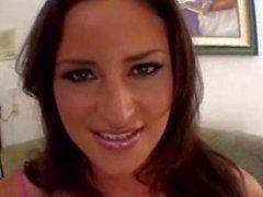 latina bikini teasing brunette solo